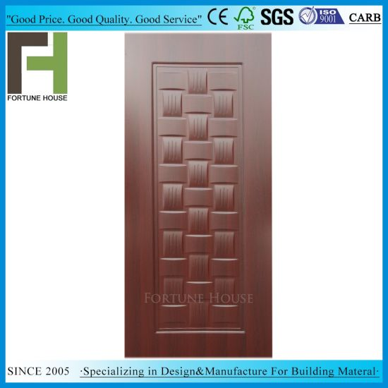 Melamine Teak Corlor Laminated MDF Door Skin pictures & photos