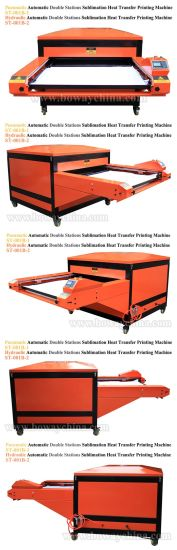 Large Format Hydraulic Automatic Double Stations Flatbed Hot Heat Transfer Press Tshirt Printer pictures & photos
