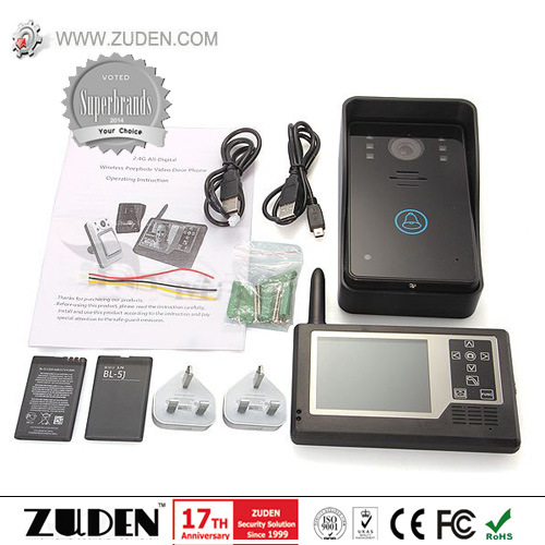 "2.4GHz Wireless Video Door Phone with Two 3.5"" Indoor Monitor pictures & photos"