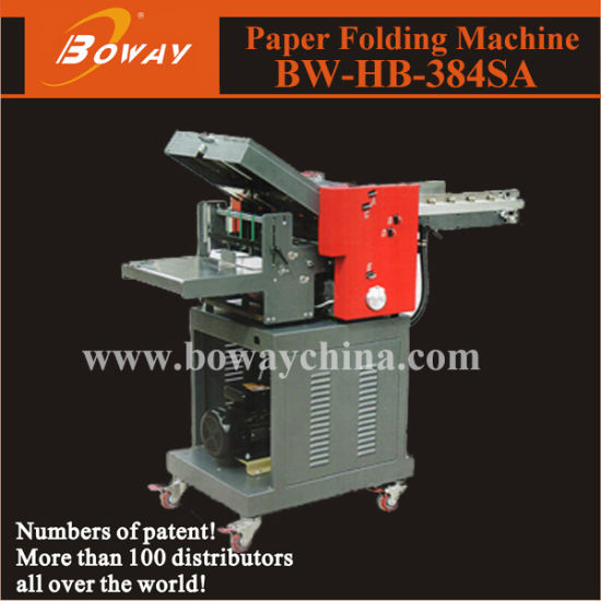Boway 22000sheets/Hour Industrial A4 Paper Folding Machine with Stand Collector 384SA pictures & photos