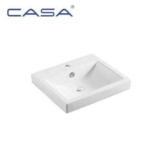 White Color Art Bathroom Sink Wash Basin For Dining Room