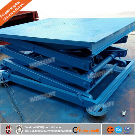 ISO Certificated Stationary Scissor Lift pictures & photos