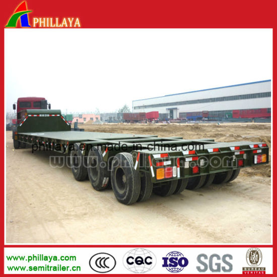 6 Axles in 3 Rows Heavy Duty Low Loader Trailer pictures & photos