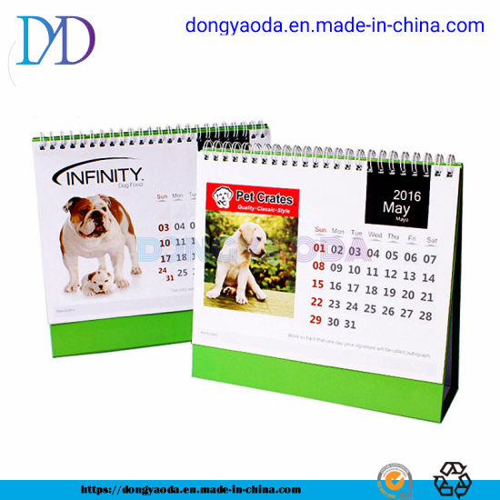 Custom OEM Personalized Whole Year Paper Table Planner Desk Calendar