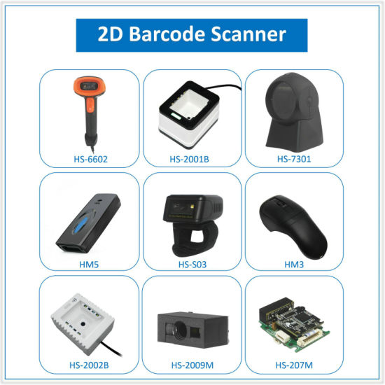 USB PS2 RS232 Bluetooth Laser CCD CMOS 1D 2D Qr Code Portable Handheld Barcode Scanner pictures & photos
