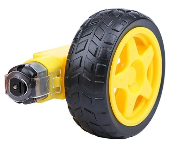 Smart Robot Car Plastic Tire Tyre Wheel and DC 6V Gear Motor Set for Uno R3