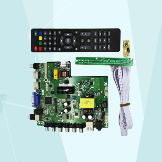 China LCD LED TV Motherboard with Keypad Remote Control for