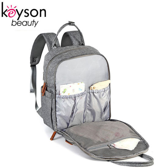 Professional Gray Polyester New Baby Diaper Nappy Bag Backpack