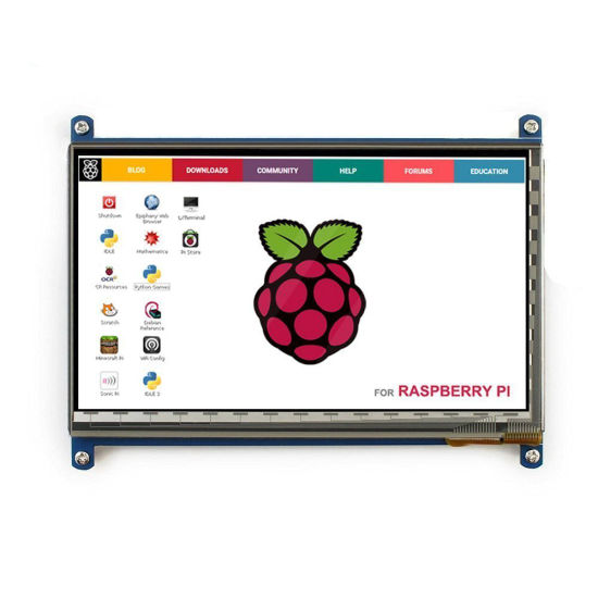 800*480 Resolution 7 Inch LCD Capacitive Touch Panel with USB Cable for Raspberry Pi pictures & photos