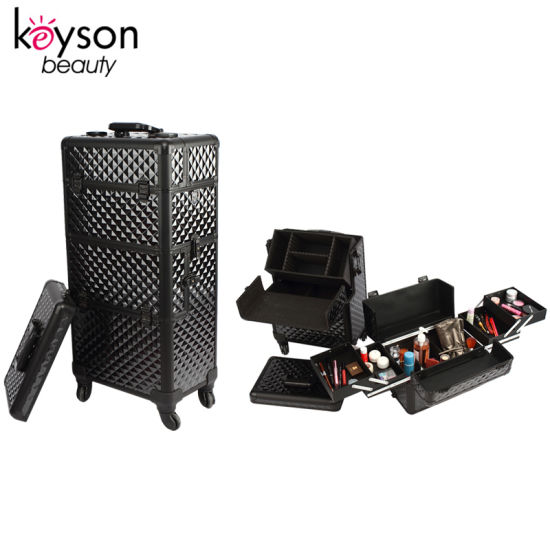 Black Diamond Makeup Artist Travel Trolley Organizer Box pictures & photos