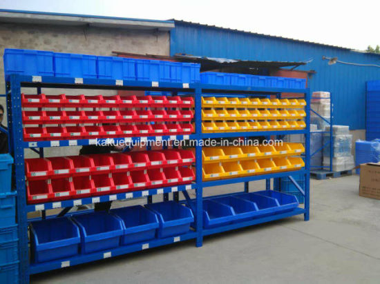 Industrial Warehouse Storage Long Span Shelving with Plastic Bins