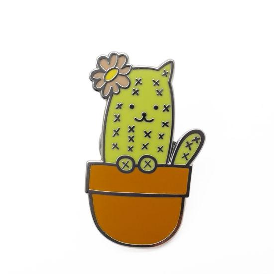 Wholesale Custom Iron Epoxy Coated Cactus Lapel Pin