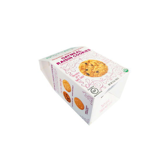 China Custom Biscuit Cookies Packing Paper Carton Box for