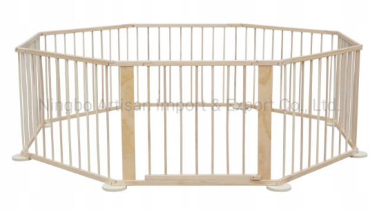 Baby Kids Safety Fence Wooden Playpen