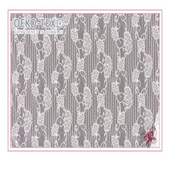 Floral Design Jacquard Mesh Fabric