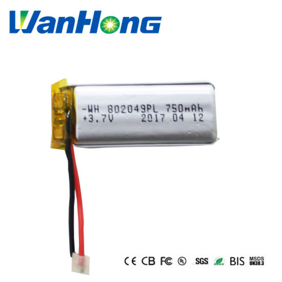 802049pl 750mAh Rechargeable Battery Li-Polymer Battery Pack for LED Speaker