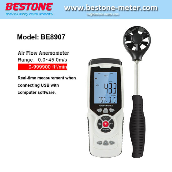 Hot Model Be8907 Highly Sensitive Function of Digital Anemometer Factory Price pictures & photos