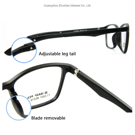 Wholesale New Eyeglasses High Quality Tr Teenagers Eyewear Adjustable Temple Optical Glasses Frame