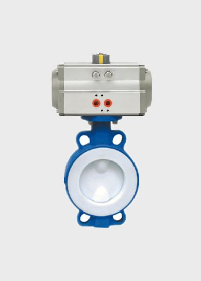 Pneumatic Wafer Type Fluorine Lined Butterfly Valve