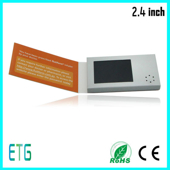 China 24 inch hot sale business card size video brochure card 24 inch hot sale business card size video brochure card reheart Gallery