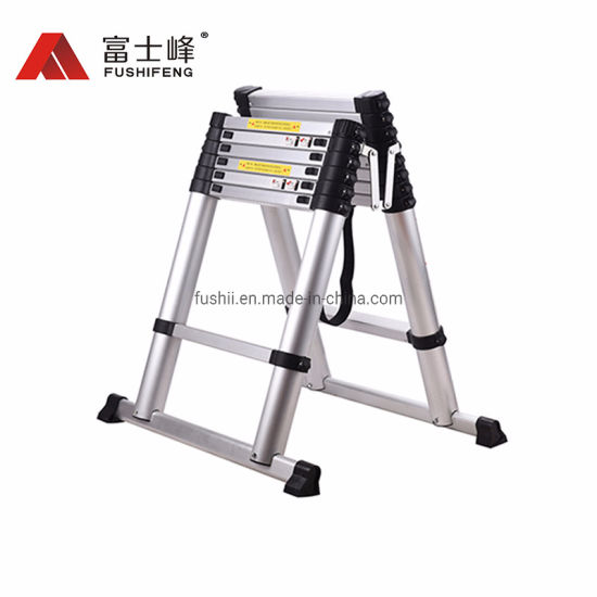 2.6m High Quality Double Used Aluminum Extendable Step Ladder for Loft Indoor Outdoor Office