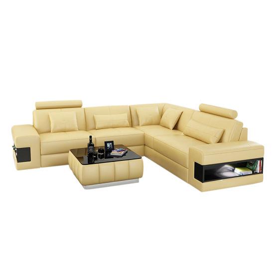 Living Room Nordic Fabric Sofa L Shape