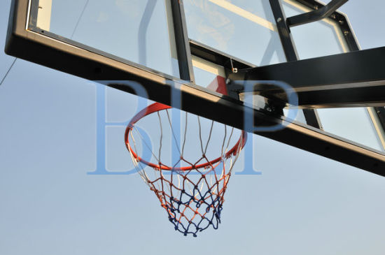 Toughened Glass Basketball Backboard Height Adjustable Basketball Stand Hoop pictures & photos