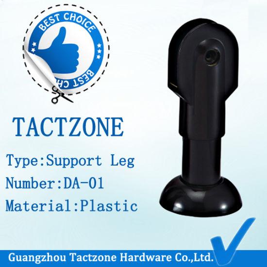 Good Quality Plastic Black Toilet Partition Bathroom Adjustable Legs