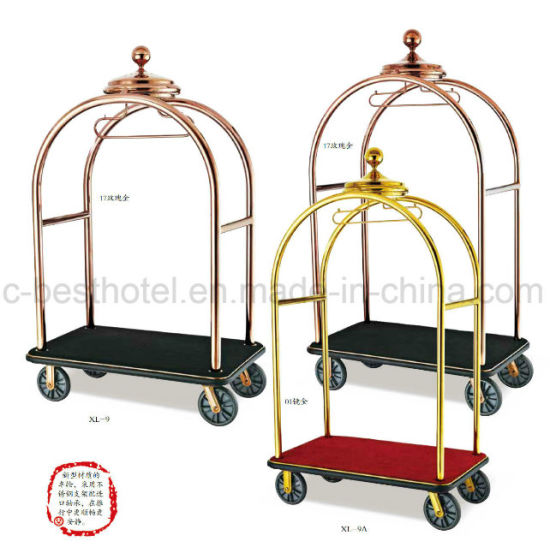 Used Hotel Metal Luggage Trolley High Quality Airport Luggage Cart