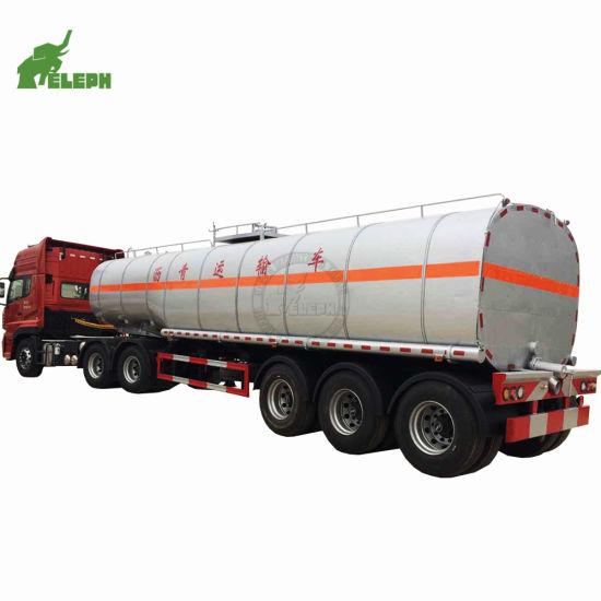 BPW Axles Transport Asphalt Heated Tank Trailer Fuel Tanker
