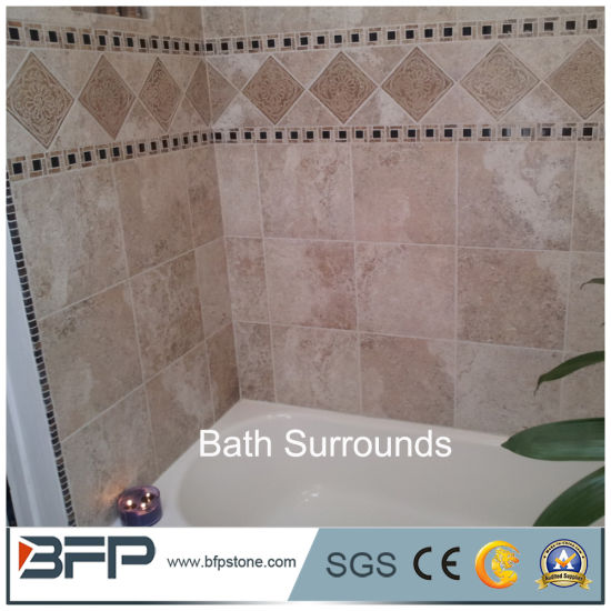 China Wholesale Cultured Marble Wall Tiles For Tub Surrounds China