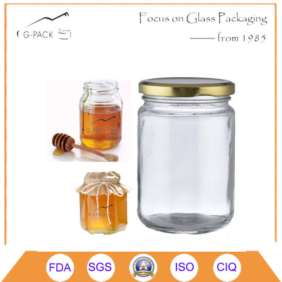 china empty honey glass jar with plastic cap china glass container