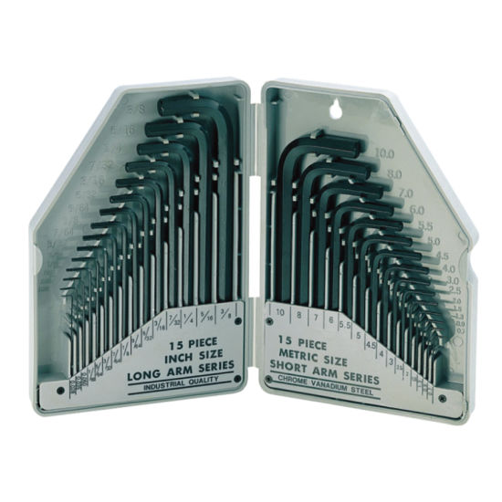 SAE/Metric Cr-V 30PCS Hex Key Set Allen Wrench for Hand Tools