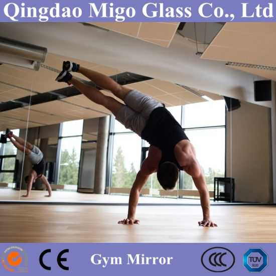 Decorative Silver Wall Mirror Used in Bathroom and Gym