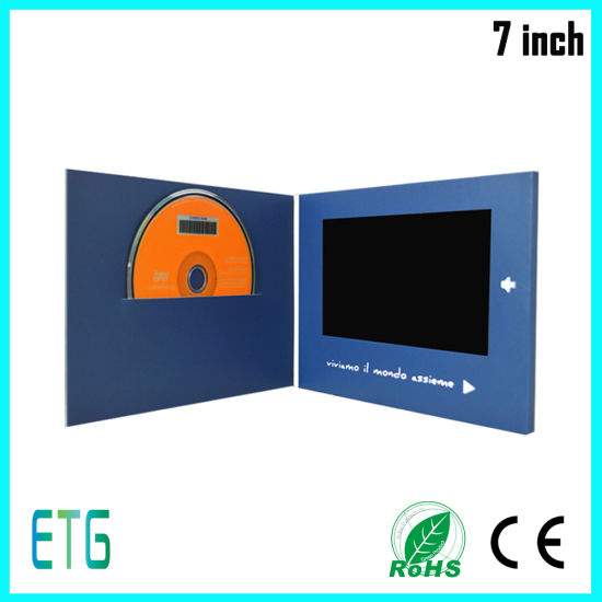 7 Inch LCD Screen Video Greeting Brochure for Meeting pictures & photos