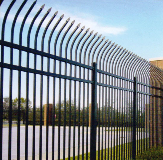 China Quality Powder Coated Curved Picket Security Fence