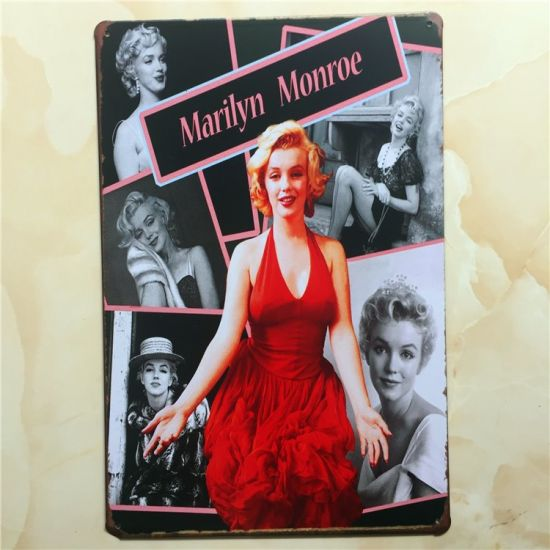 Vintage Sign Marilyn Monroe Tinplate