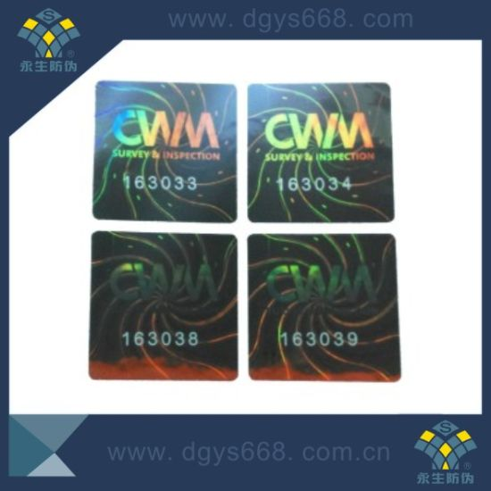 Anti-Counterfeiting Laser Hologram Sticker pictures & photos