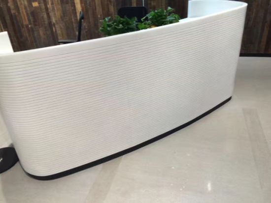 Glacier White Corian Office Front Desk pictures & photos