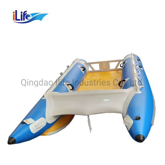 Ilife China Inflatable High Speed Boat Catamaran Sale 4.1m Inflatable Boat Catamaran