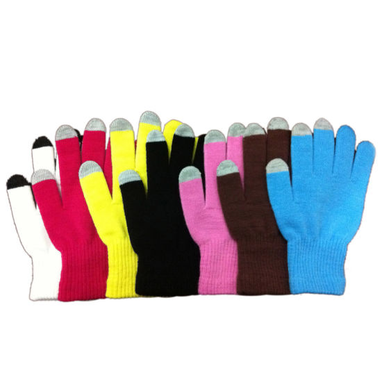 Touchscreen, Smartphone Gloves, I Phone Gloves Knitted Glove (JRAC036)