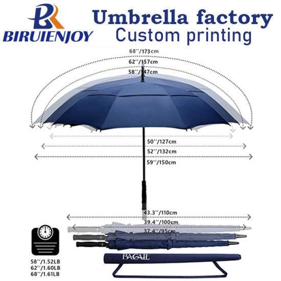 Automatic Open Close Umbrella 127CM Black Large Folding Parasol Strong Windproof