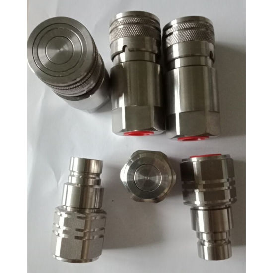 Non-Spill Flat Face Water Quick Release Couplings Couplers 3/8 BSP