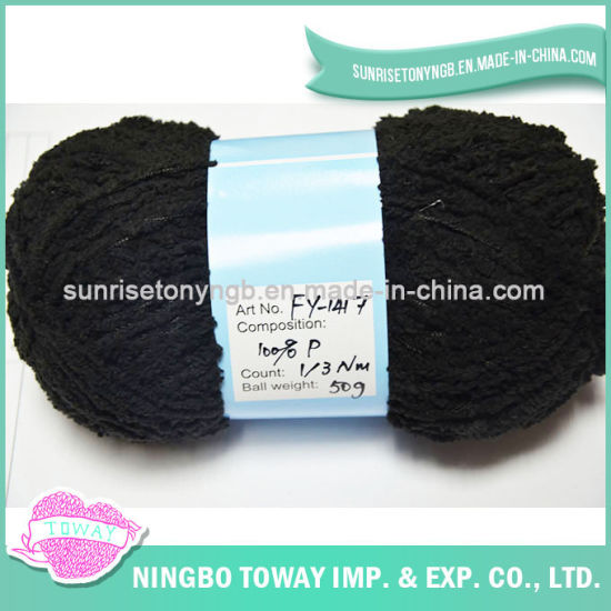 Black Thick Winter DIY Scarf Knitting Acrylic Wool Yarn