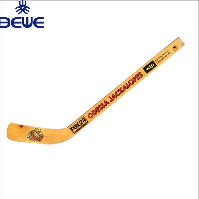 New Good Price Promotional Gifts Custom Logo Mini Wood Player Hockey Stick