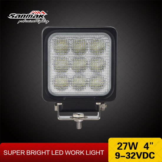 "4"" 27W CREE High Output IP68 Square LED Work Light pictures & photos"