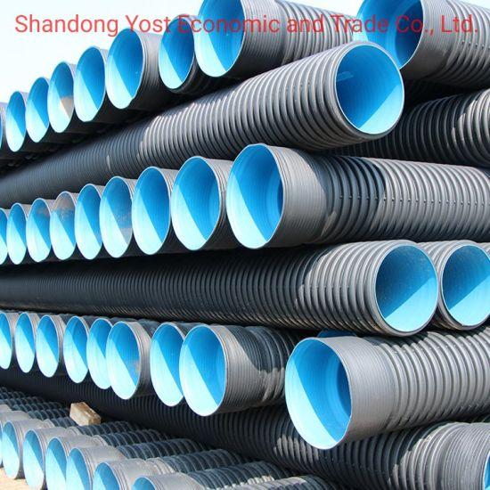 China 18 Inch HDPE Double Wall Corrugated PE Drainage Pipe Dwc HDPE