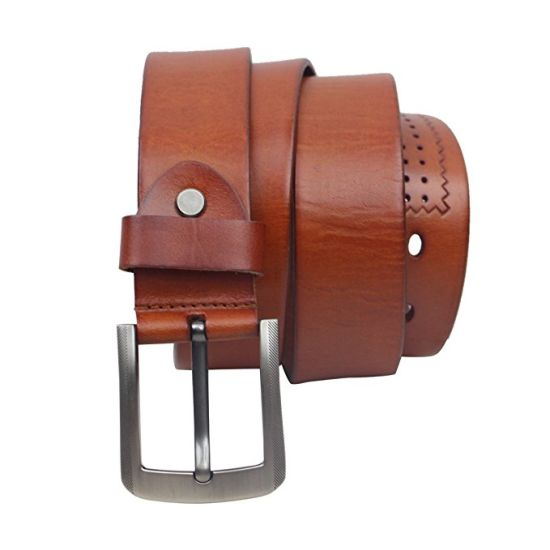 Men's Casual Jean Belt Wholesale Genuine Cowhide Soft Full Grain Leather Men's Black Brown Belts