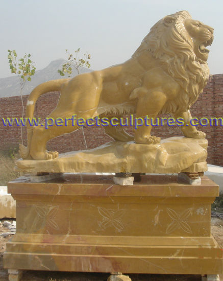 Animal Statue Marble Lion Sculpture for Garden Stone (SY-D138) pictures & photos