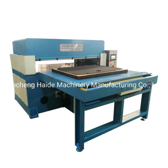 Double Side Automatic Rubber Floor Mat / Carpet / Footware Cutting Machine